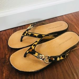 Brand new Antonio Melani animal print sandals